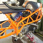Modified BUELL Firebolt with different shock mounting