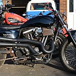Standard and modified Harley-Davidson 883 Sportster